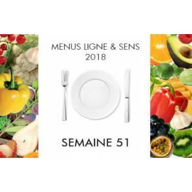 Menus semaine 51 Ligne&Sens - 2018