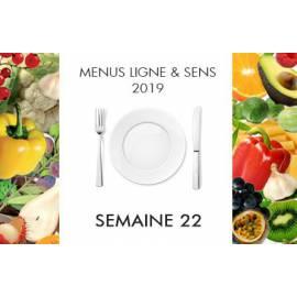 Menus semaine 22 Ligne&Sens - 2019