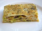 Lasagnes aux poireaux