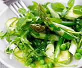 Salade d'asperges et petits pois
