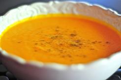 Velouté de carottes aux écorces d'orange